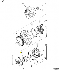 Gear reduction set 1st planet JS