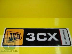 Decal 3CX sitemaster loader arm x 2 pcs