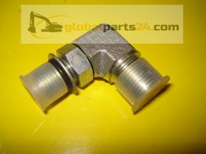 Adapter elbow - hydraclamp 3CX 4CX jcb