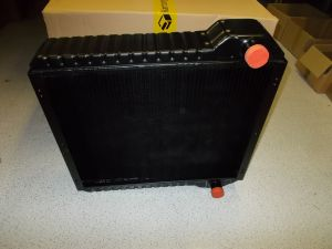 Radiator assembly, 5row-9fpi Blue spot, 657mm tall JCB 3CX 4CX