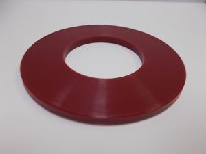 Spacer Red, 50.75 Borex 5.5 mm Thick