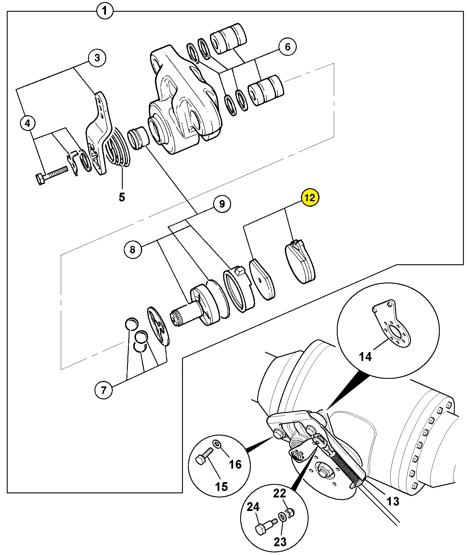 Hand Brake Pad 2001 Jcb 3cx 4cx Wiring Diagram