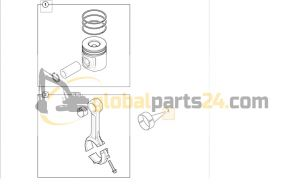 Kit-big end bearing standard JCB 3CX 4CX