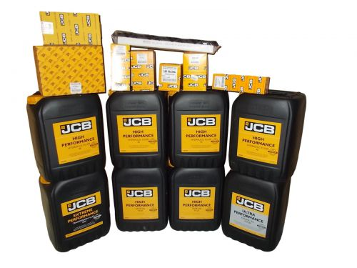 Set filters and oils JCB 3CX 4CX 2013-  UP 10W30 HP46