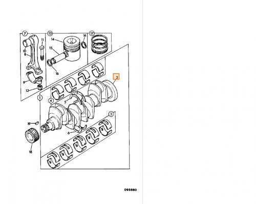 Crankshaft assembly ENGINE AB